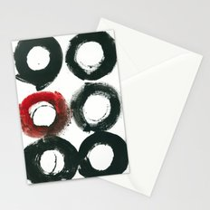 Black Circle Red Circle Stationery Cards