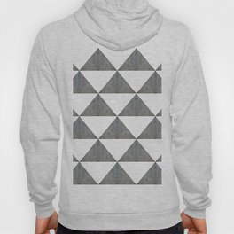 Cement White Triangles Hoody
