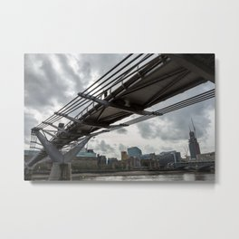 Millennium Bridge Metal Print
