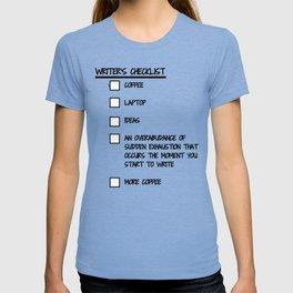 Writer's Checklist T-shirt