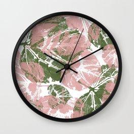Leaves IV Wall Clock