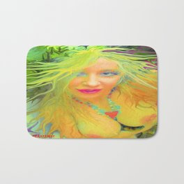 Art,fairy wood nymph,Nude ladykashmir hot ,pink,yellow,i pod,lap top,t shirt,cups,tote ,bags, Bath Mat