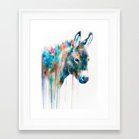 donkey Framed Art Prints featuring Donkey by Slaveika Aladjova
