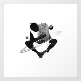 Deep rolling planet. Art Print