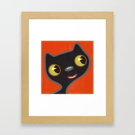 Black Kitty 2 Framed Art Print