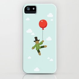 Scarecrow in balloon  iPhone Case