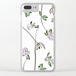 Trifolium Pratense Clear iPhone Case