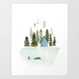 I see a whale! Art Print