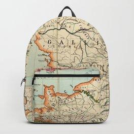 Vintage Map of France (1887) Backpack