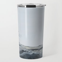Snowy Owl Of Bronte Harbour by Teresa Thompson Travel Mug