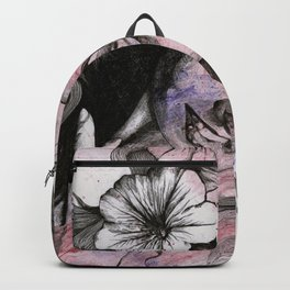In The Year Of Our Lord (smiling flower lady portrait) Backpack