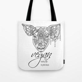 Every life is precious - pig Tote Bag