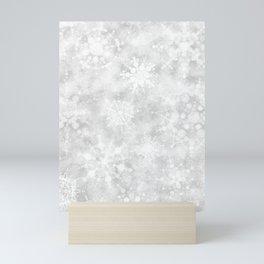 Snowflake Snowstorm Mini Art Print