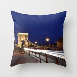 Szechenyi Chain bridge Throw Pillow