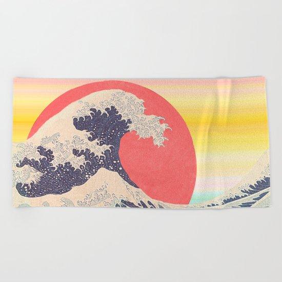 Hokusai revisited Beach Towel