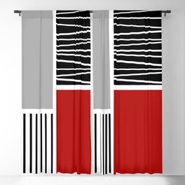 Composition with geometric shapes 2 Blackout Curtain
