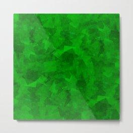 Emerald Fragments Metal Print