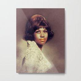 Aretha Franklin, Music Legend Metal Print