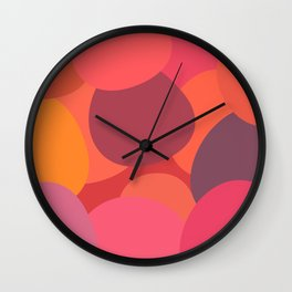 Abstract berry uneven circles  Wall Clock
