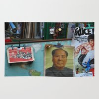 hong kong Area & Throw Rugs featuring hong kong by Teresa Gabry