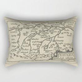 Vintage 17th-Century Renaissance Map of Bavaria Germany Rectangular Pillow