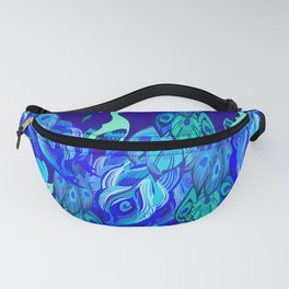 Peacock Neck Gator Proud Peacocks Peacock Feathers Fanny Pack