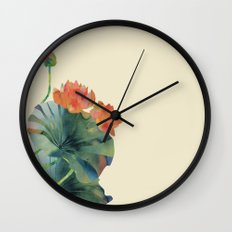 Lotus Bloom Wall Clock