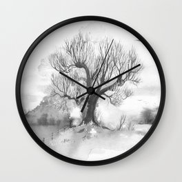 Winter Linden Wall Clock