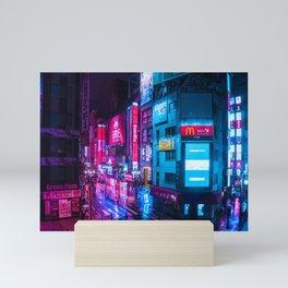 Post Apocalyptic Neon City Blues  - Tokyo Mini Art Print