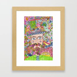 Man and his hat Framed Art Print