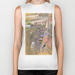 Fifth Avenue, New York by Joaquin Sorolla Biker Tank