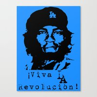 dodgers Canvas Prints featuring Yasiel Puig - Viva LA Revolucion! by Adrian Mentus