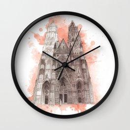 minster orange Wall Clock