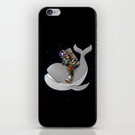 Above and beyond outer space iPhone Skin