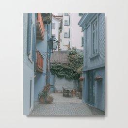 Zurich Alley II Metal Print
