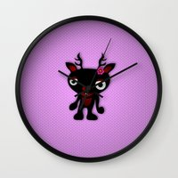 minnie Wall Clocks featuring Minnie by Karen Strempel