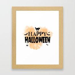 Happy Halloween | Spooky Framed Art Print