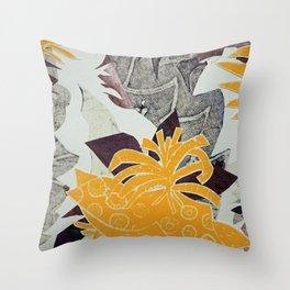 Urban Tropical Throw Pillow