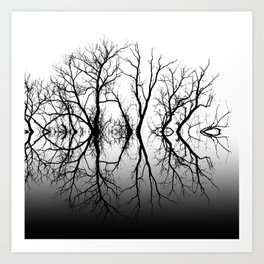 Silhouetted Beauty Black Art Print