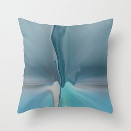 Melting Sea Glass Abstract Throw Pillow