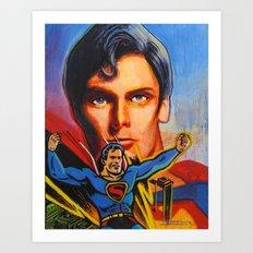 Superman! Art Print
