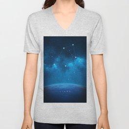 Libra: Astrological Art Unisex V-Neck