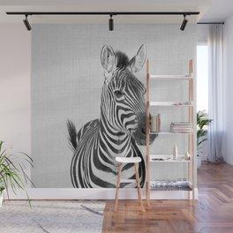 Zebra 2 - Black & White Wall Mural