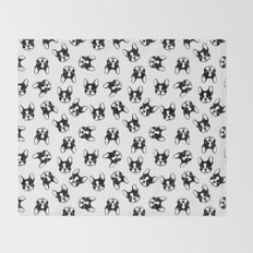 French bulldog pattern Throw Blanket