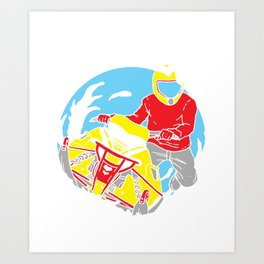 Snowmobiling Gift Make Winter Great Again Snowrider Sled Art Print