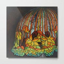 Dropping Flower Lamp Metal Print