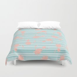 Minty palm Duvet Cover