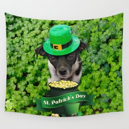 St. Patricks Day Dog Wall Tapestry