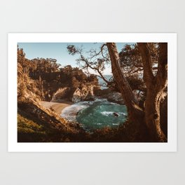 Big Sur Sunset at McWay Falls Art Print