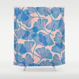 Abstraction_Ginkgo_Pattern_Minimalism_002 Shower Curtain
